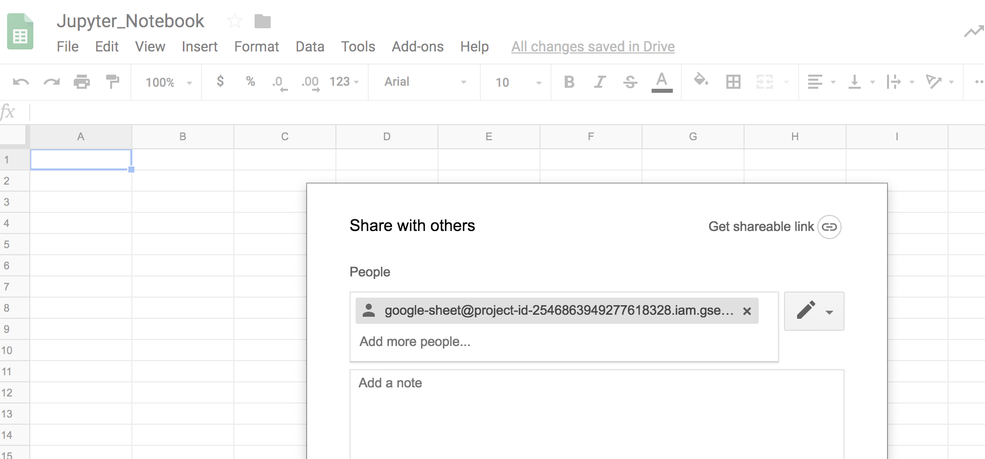 Connect your Jupyter Notebook to Google Spread Sheet – JingsBlog